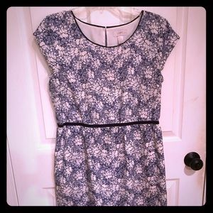Navy and white floral sundress